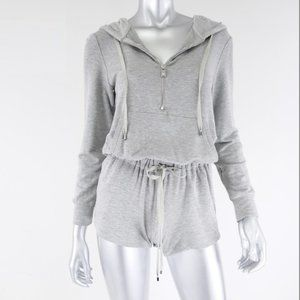 haute hippie ∙ stretch zip up hoodie romper